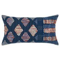 Rizzy Home Shibori Oblong Throw Pillow in Indigo