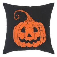 Rizzy Home Pumpkin Square Throw PIllow in Orange/Black