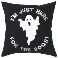 Rizzy Home Ghost Square Throw Pillow in White/Black