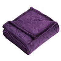 Micah Magical Plush Throw Blanket in Purple