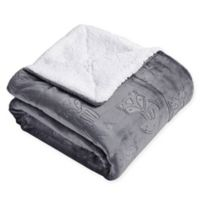 Fred the Fox Throw Blanket in Grey