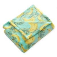 Tropical Throw Blanket in Yellow