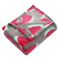 Tropical Throw Blanket in Red/Orange
