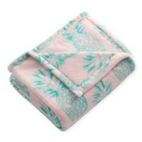 Tropical Throw Blanket in Pink/Green