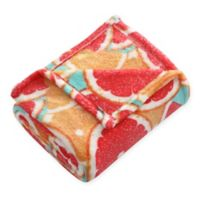 Tropical Throw Blanket in Grey/Red
