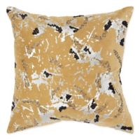Rizzy Home Abstract 20-Inch Square Throw Pillow in Gold