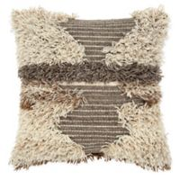 Rizzy Home Abstract 22-Inch Square Throw Pillow in Natural