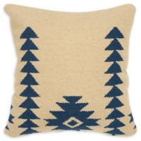 Rizzy Home Aztec-Inspired Motif Square Throw Pillow in Navy