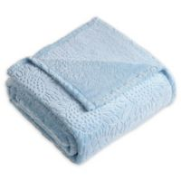 Samantha Sunflower Plush Throw Blanket in Blue