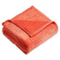 Samantha Sunflower Plush Throw Blanket in Orange
