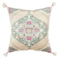 Rizzy Home Medallion Square Throw Pillow in Natural