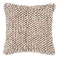 Rizzy Home Chunky Knit Square Throw Pillow in Beige/Brown