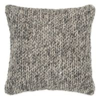 Rizzy Home Chunky Knit Square Throw Pillow in Beige/Grey