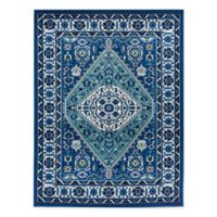 Bee & Willow Home Azalea 5' X 7' Woven Area Rug in Blue