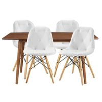 Forest Gate Eames 5-Piece Midcentury Modern Dining Set in White