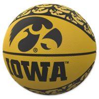 University of Iowa Repeat Logo Mini Rubber Basketball