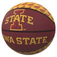 Iowa State University Repeat Logo Mini Rubber Basketball