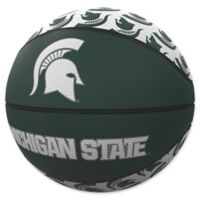 Michigan State University Repeat Logo Mini Rubber Basketball