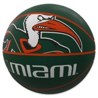 University of Miami Mascot Official-Size Rubber Basketball