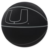 University of Miami Blackout Full-Size Composite Basketball