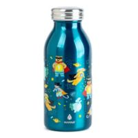 Manna™ Retro Kid's Double Wall Stainless Steel 12 oz. Animal Water Bottle in Green