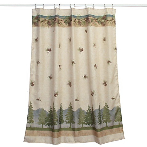 pine cone branches fabric shower curtain bed bath amp beyond buy tree shower curtain from bed bath amp beyond