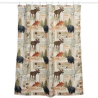 Vintage Outdoors Fabric Shower Curtain