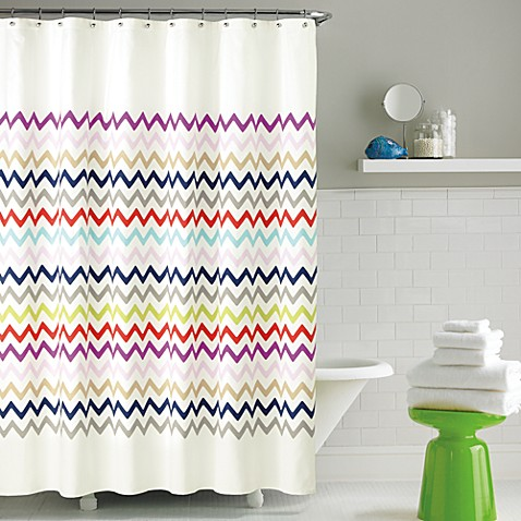Kate spade new york brightwater ave fabric shower curtain for Bed bath and beyond kate spade