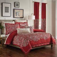 Croscill® Adriel Embroidered King Comforter Set in Red