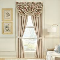 Croscill® Carlotta 84-Inch Window Curtain Panel Pair in Taupe