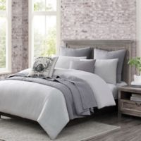 Bridge Street Logan Full/Queen Comforter Set in Grey/White
