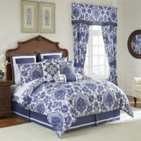 Croscill© Leland Queen Comforter Set in Navy