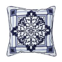 Croscill© Leland 16-Inch Square Throw Pillow in Navy