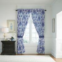 Croscill© Leland 84-Inch Rod Pocket Window Curtain Panel Pair in Navy