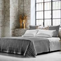 Frette At Home Vertical Queen Coverlet in Grey