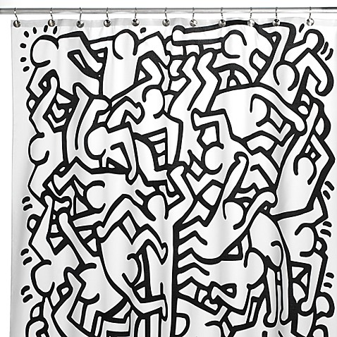 Keith Haring 72 Inch X 72 Inch Shower Curtain Bed Bath