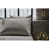 Frette At Home Vertical Standard Pillowcases in Grey (Set of 2)