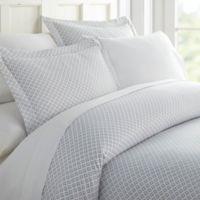 Polaris Twin/Twin XL Duvet Cover Set in Grey