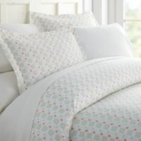 Lights in Blue Patterned Twin Duvet Cover Set in Aqua