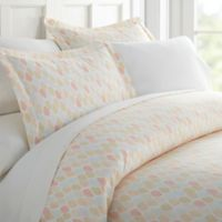 Home Collection Fall Foliage Leaf King Duvet Cover Set in Yellow
