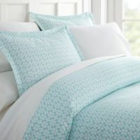 Starlight Patterned Full/Queen Duvet Cover Set in Aqua