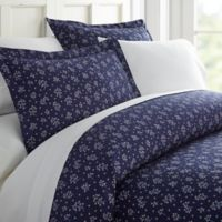 Midnight Blossoms Full/Queen Duvet Cover Set in Navy