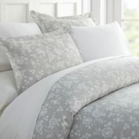 Home Collection Rose Twin Duvet Cover Set in Light Grey