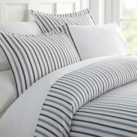 Vertical Dreams Full/Queen Duvet Cover Set in Grey