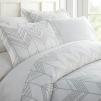 Alps Chevron Full/Queen Duvet Cover Set in Light Grey