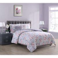 Penelope Floral 5-Piece King Comforter Set in Grey