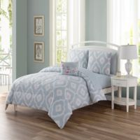 Sara 12-Piece Reversible Queen Comforter Set in Spa Blue