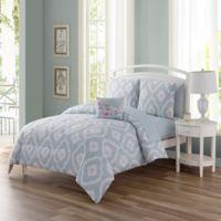 Sara 12-Piece Reversible California King Comforter Set in Spa Blue