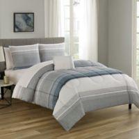 Nile 12-Piece Reversible Full Comforter Set in Slate Blue