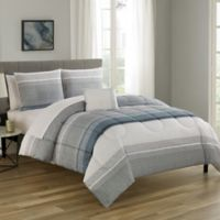 Nile 12-Piece Reversible Queen Comforter Set in Slate Blue